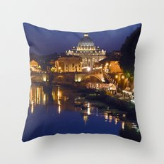 St. Peter's Church in Rome Throw Pillow