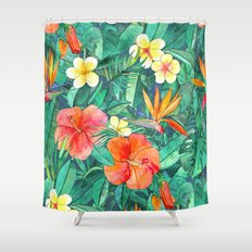 Classic Tropical Garden Shower Curtain