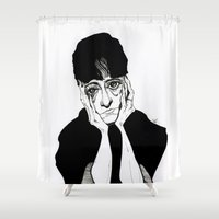 dorothy Shower Curtains featuring Dorothy Parker by Simone Bellenoit : Art & Illustration