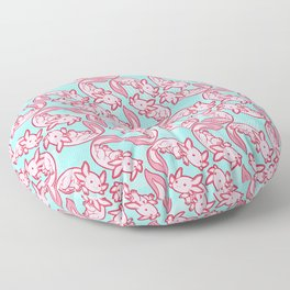 Kawaii Axolotl Pastel Chido Pink Floor Pillow