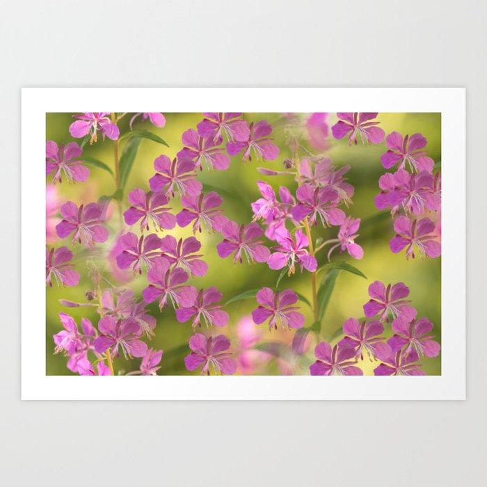 Rosebay Willowherb Flowers #decor #society6 Art Print