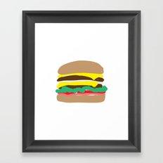 Double Double Framed Art Print