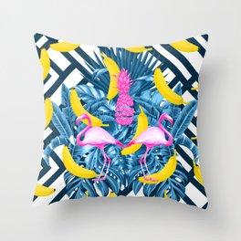 tropical banana fun  Throw Pillow