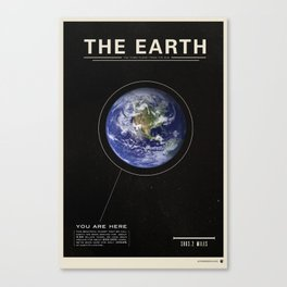 THE EARTH - Space | Time | Science Canvas Print