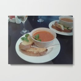 Bowl Of Steaming Soup Metal Print