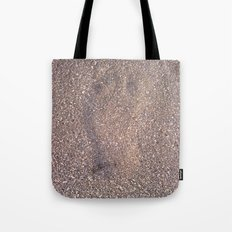 trace in the sand Tote Bag