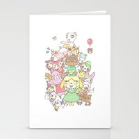 animal crossing Stationery Cards featuring Animal Crossing (yellow) by Siri's society