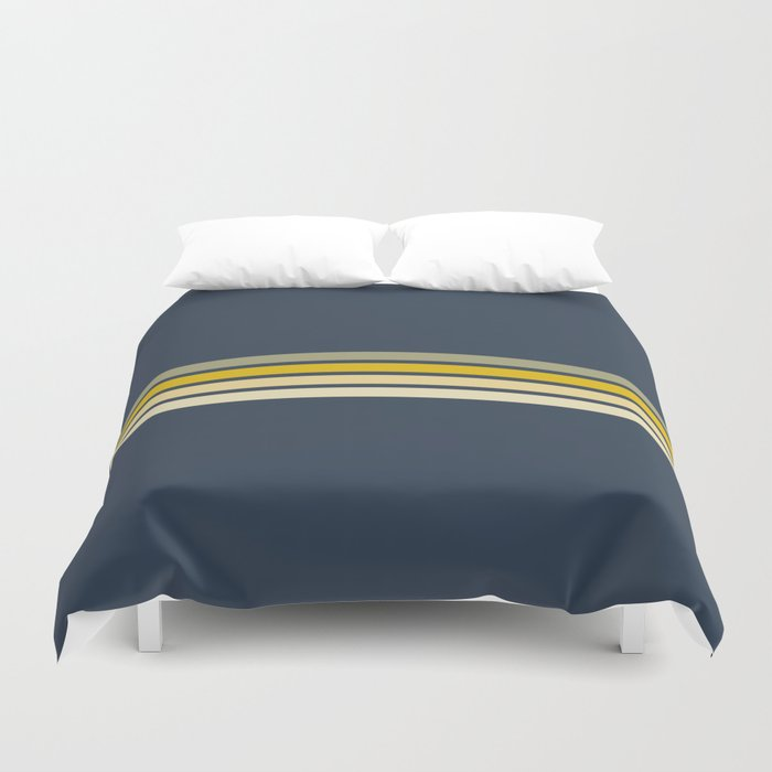 Racing Retro Stripes Duvet Cover