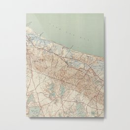 Vintage Map of Sandwich MA (1942) Metal Print