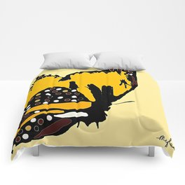 Yellow Butterfly Comforters