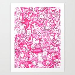 Pinky Collage Art Print