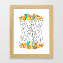 Strung Shapes Framed Art Print