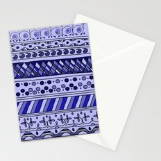 Yzor pattern 002 blue Stationery Cards