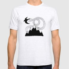 Mountain Swallow SMALL Ash Grey Mens Fitted Tee
