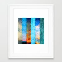 blues Framed Art Prints featuring Blues by Olivia Joy StClaire
