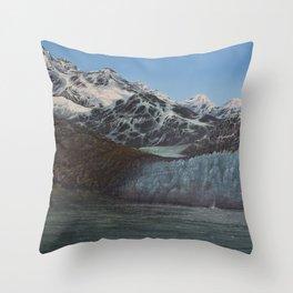 Glacier Bay Awakening Throw Pillow