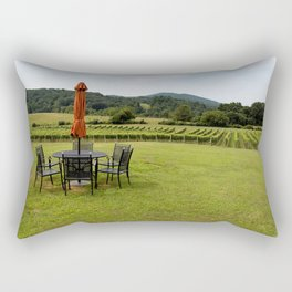 A Table with a View Rectangular Pillow