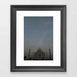 Taj dawn with a jet flyby Framed Art Print