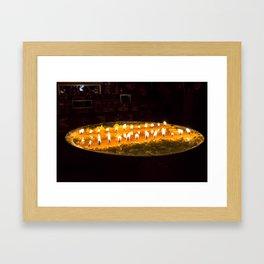 Tibet: Ritual butter lamp Framed Art Print
