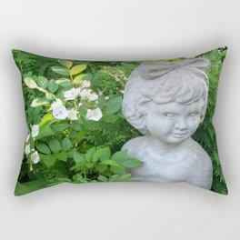 Little Girl in the Garden Rectangular Pillow