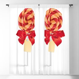Lollipop with bow and tag Blackout Curtain