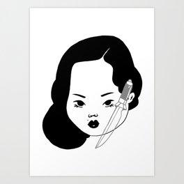 SharpLady Art Print