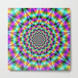 Psychedelic Color Explosion Metal Print