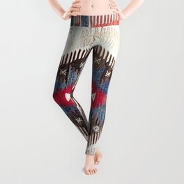 Afyon  Antique Phrygian Turkish Kilim Print Leggings