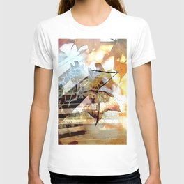 Giraffes in the Shadow of Fall Leaves T-shirt