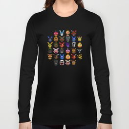FNAF pixel art Long Sleeve T-shirt