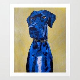 Hank the Great Dane Oil Painting Art Print