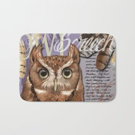 The Screech Owl Journal Bath Mat