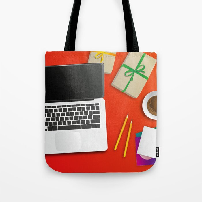 workplace at christmas time Tote Bag