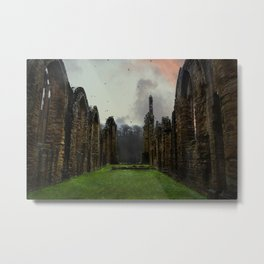 Finchale Abbey at Sunset Metal Print