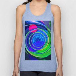 Re-Created Spiral Painting III by Robert S. Lee Unisex Tank Top