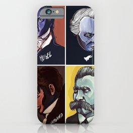 Hegel Kant Kierkegaard Nietzsche iPhone Case