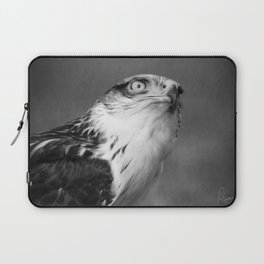Red-tailed Hawk I B&W Laptop Sleeve