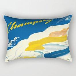 Vintage Champery Switzerland Travel Rectangular Pillow