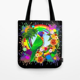 Rainbow Lorikeet Parrot Art Tote Bag