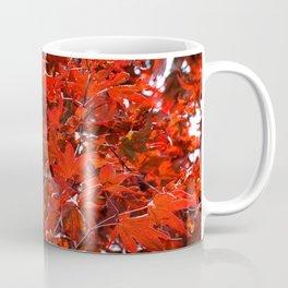 Japanese Red Maple Leaves Coffee Mug