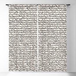 Ancient Arabic on Seashell Blackout Curtain