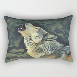 A Wolf Call Rectangular Pillow