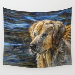 One Wet Golden Retriever by Teresa Thompson Wall Tapestry