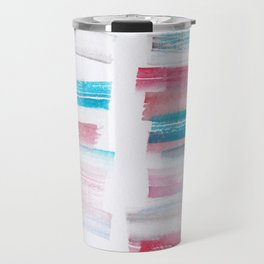 15 | 181101 Watercolour Palette Abstract Art | Lines | Stripes | Travel Mug