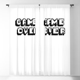 Game Over Pixel Type Blackout Curtain