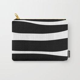 Irregular Stripes Black White Waves Art Design Carry-All Pouch