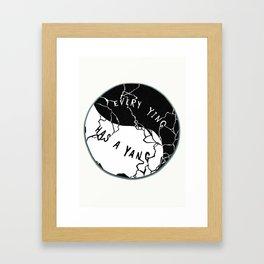 Ying and Yang Framed Art Print