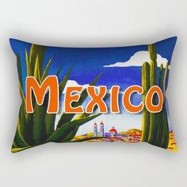 Vintage Mexico Village Travel Rectangular Pillow