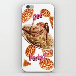 Que Pasta? iPhone Skin