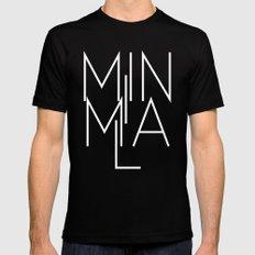 Minimal Milan /// www.pencilmeinstationery.com Mens Fitted Tee Black MEDIUM